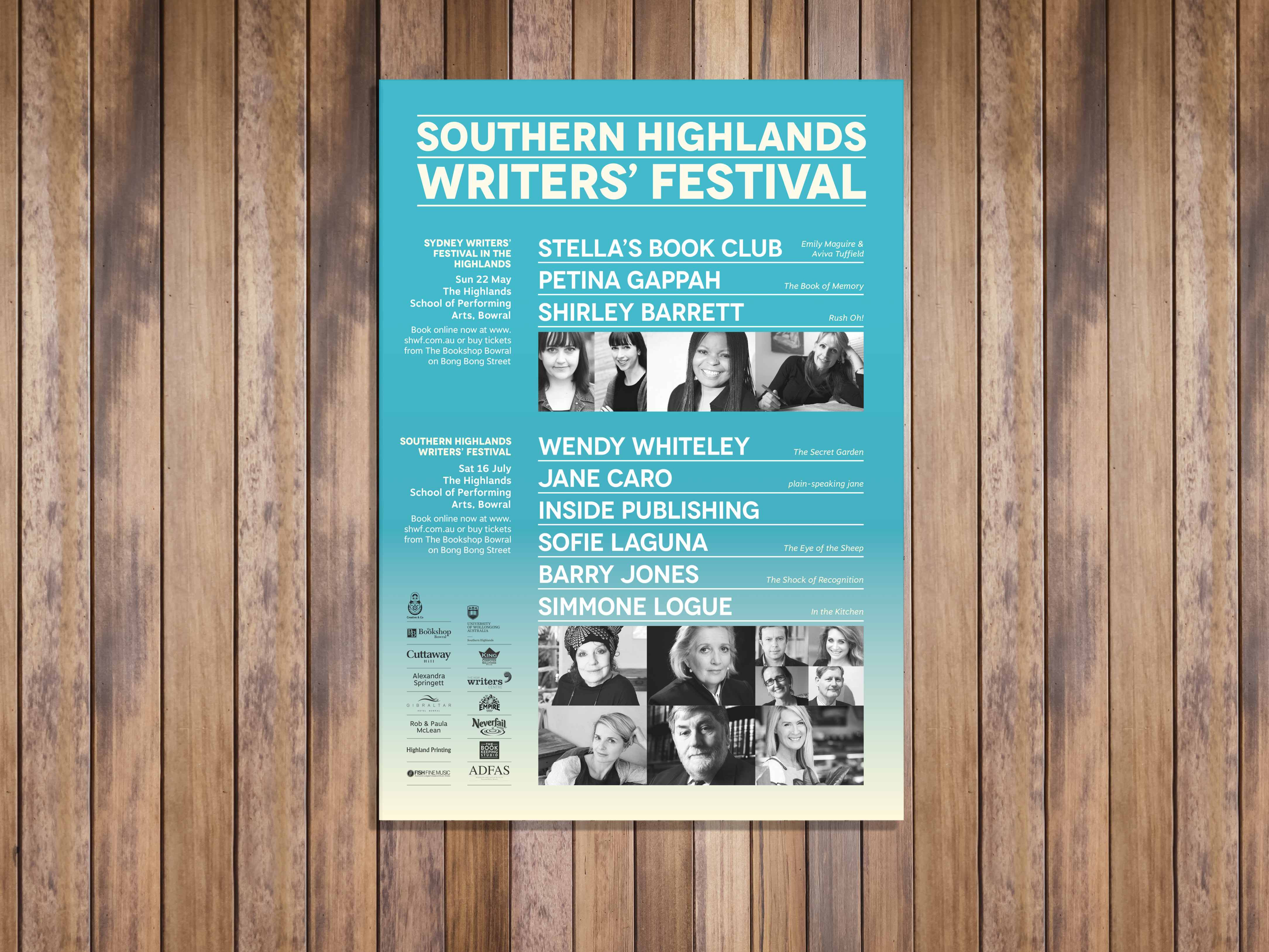 Poster design for the Southern Highlands Writers' Festival 2016