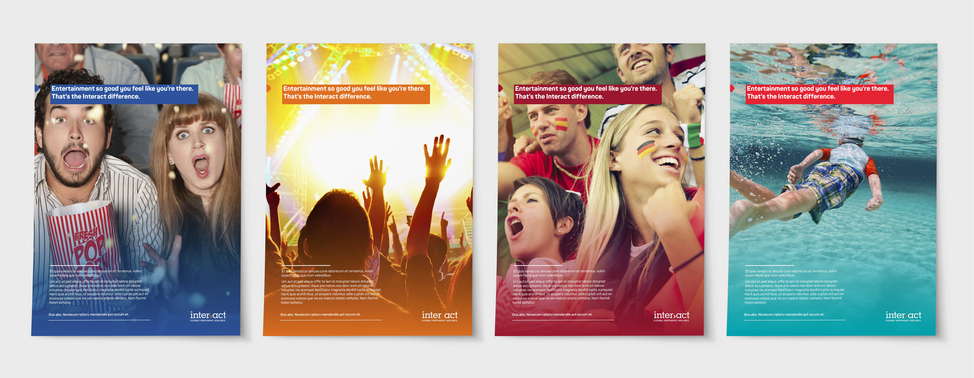 Interact brand posters