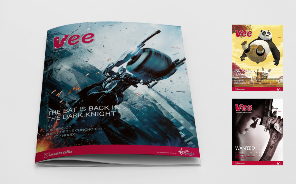 Virgin Australia IFE magazine concepts