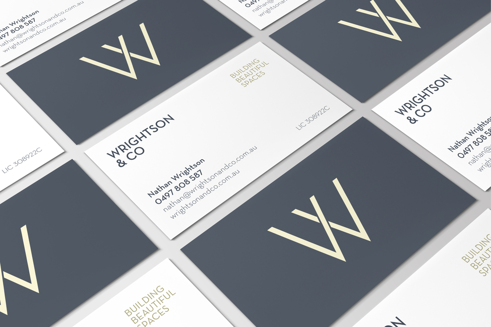 Wrightson & Co business cards